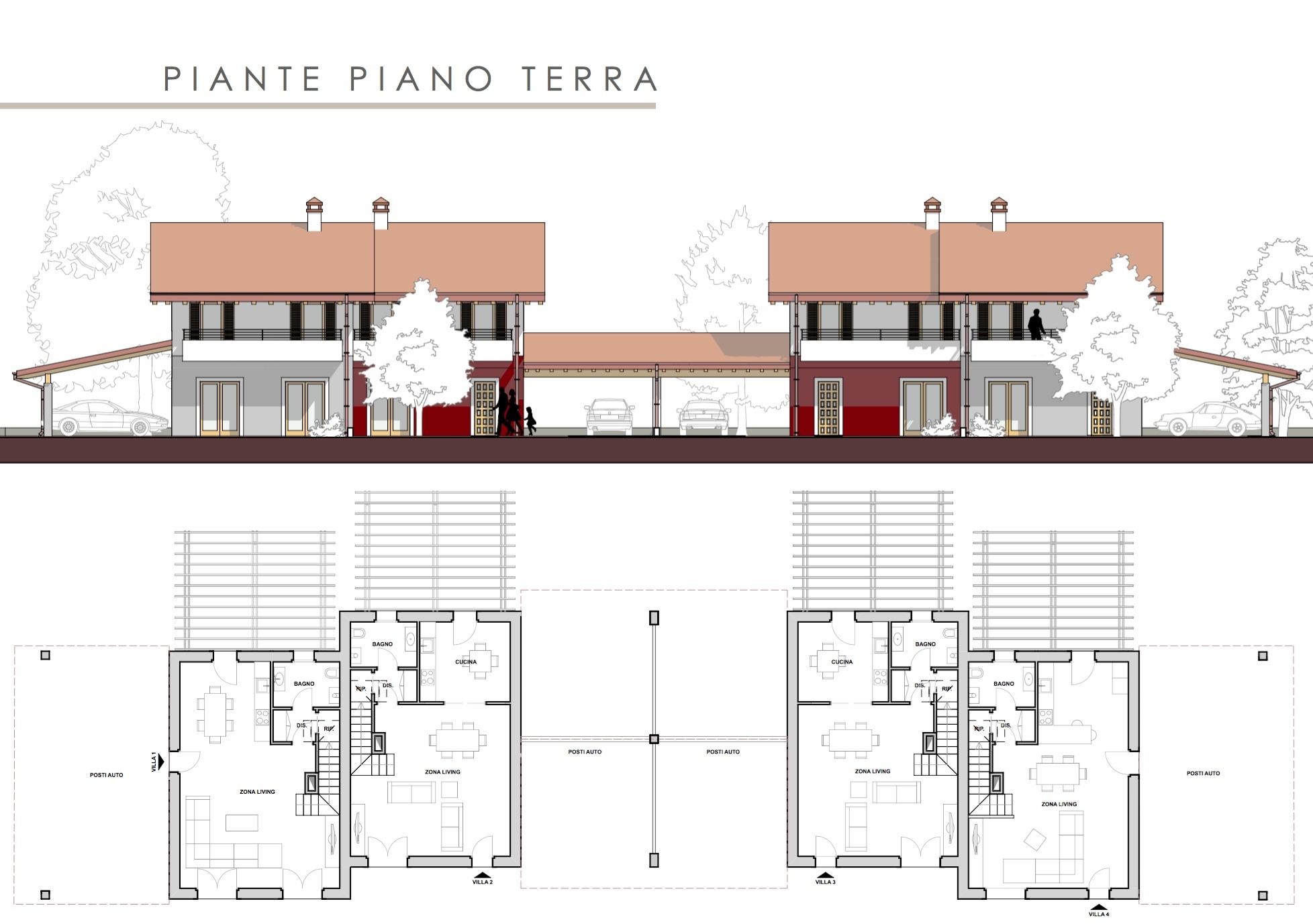 Progetti di villette singole progetti ville moderne with - Casa a schiera progetto ...