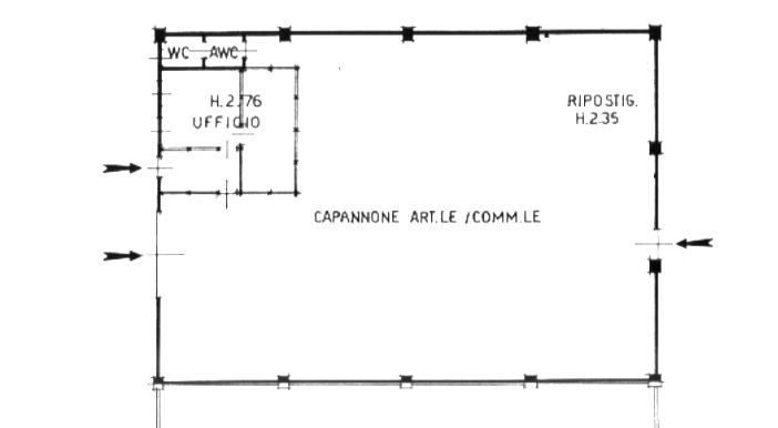 capannone artigianale commerciale