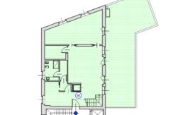 Attico pluricamere su più livelli con terrazzo di 95mq