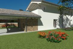 Villa bicamere più studio con giardino di 825mq