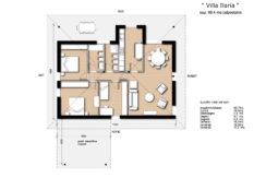 Villa monopiano bicamere più studio