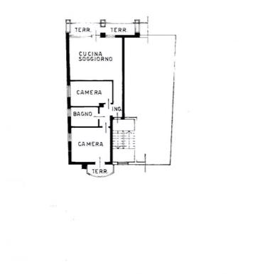 Appartamento bicamere con doppio terrazzo