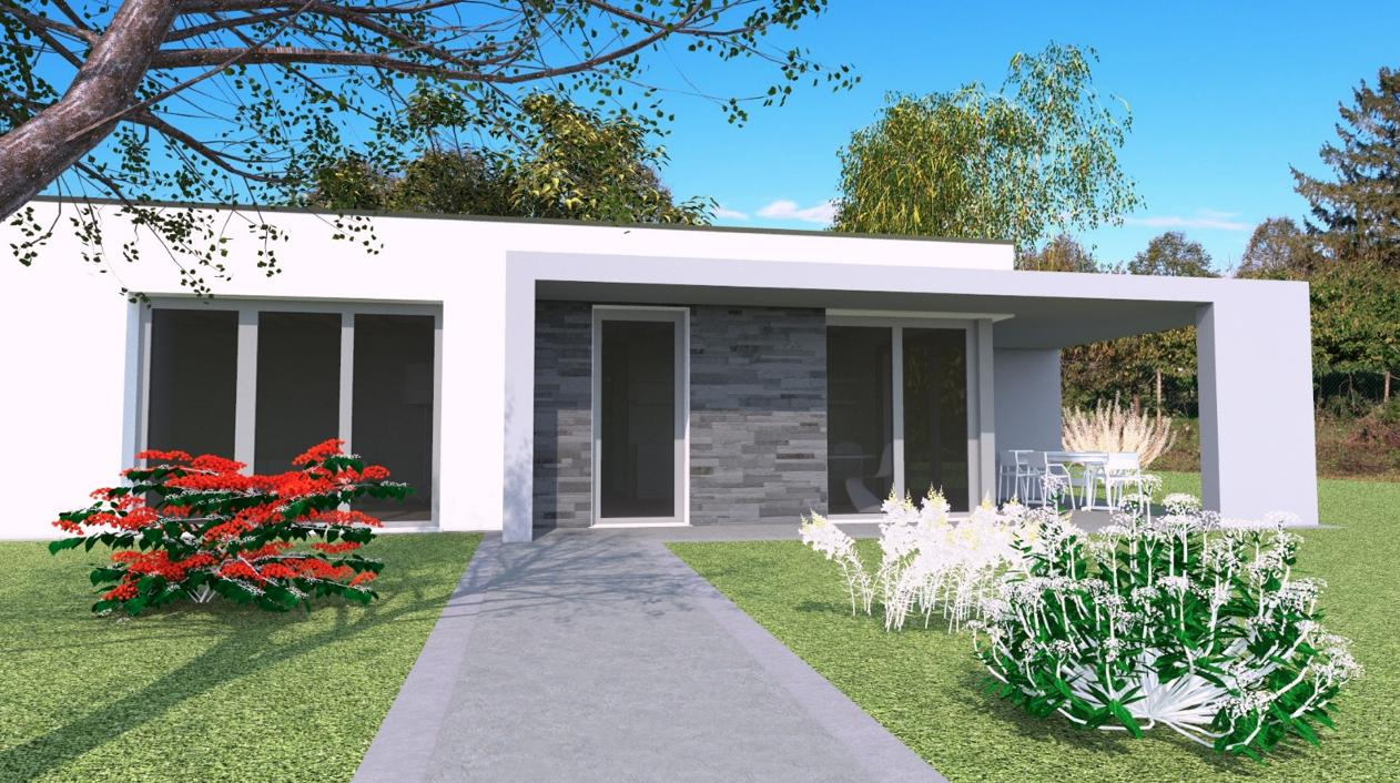 Villa bicamere di nuova realizzazione