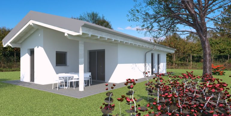 Villa singola con porticato