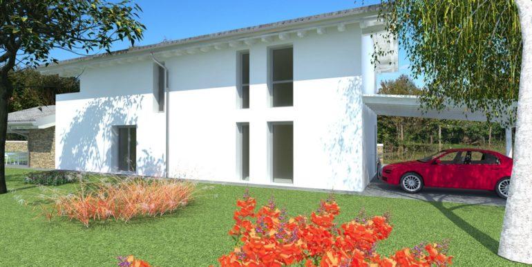 Villa unifamiliare su due livelli tricamere