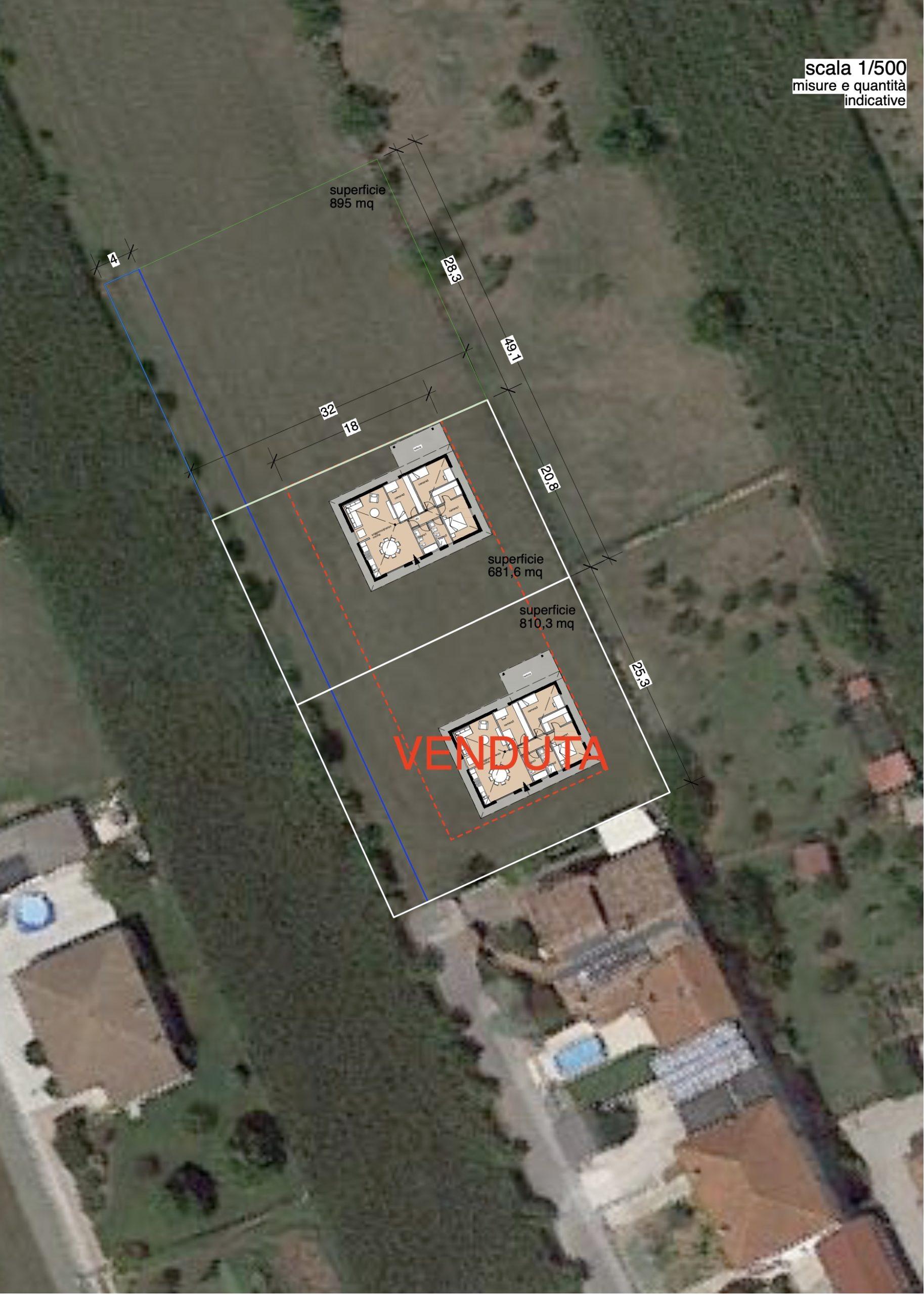 Villa monopiano tricamere biservizi